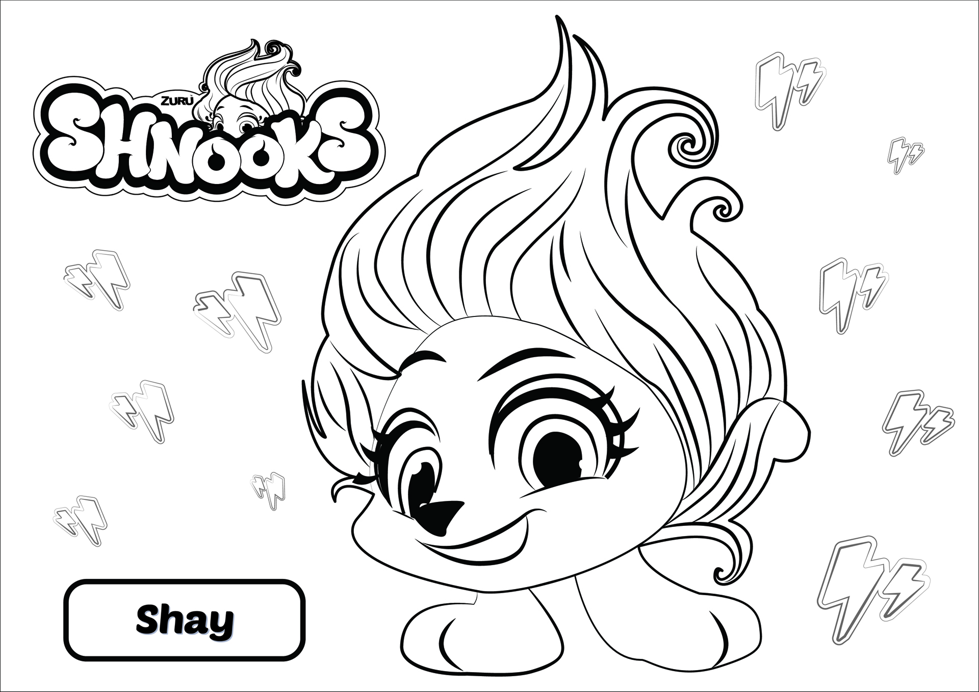 Shnooks From Bubble To Best Friend Coloring In